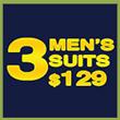 3 Men's Suits