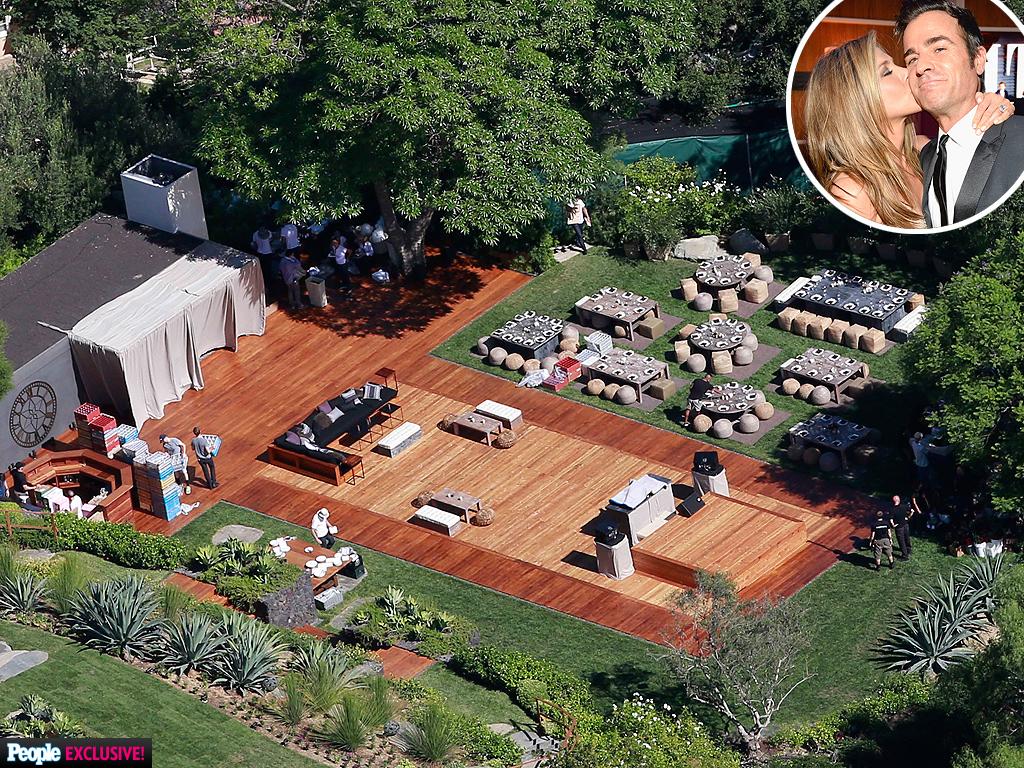 Celebrity Wedding Jennifer Aniston Amp Justin Theroux Get