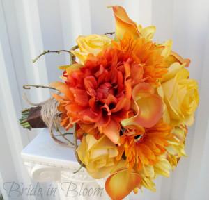 mostweddingflowerideas.com orange-wedding-bouquets-172
