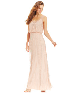 Adrianna-Papell-Beaded-Chiffon-Blouson-Dress