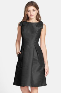 Alfred-Sung-Bateau-Neck-Bow-Shoulder-Dupioni-Dress
